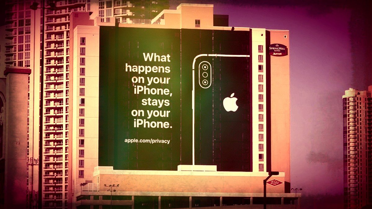 iPhone slogan: What Happens on your iPhone stays on your iPhone.